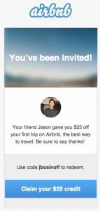Air BnB referral loyalty